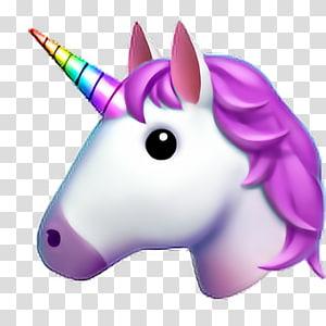 illustration de la licorne, autocollant Emoji Unicorn iPhone, unicornio png