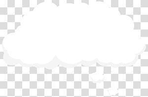 Ciel nuage noir et blanc, nuage de discours de bulle, nuage de bulle vide png