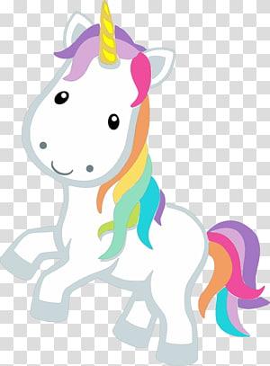licorne multicolore, dessin de licorne, licorne png