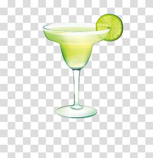 verre à margarita rempli de trait, jus de martini Margarita Cocktail, cocktail png