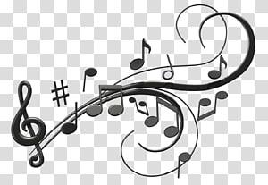 Illustration de la clé de sol et des notes, note de musique, notes de musique png