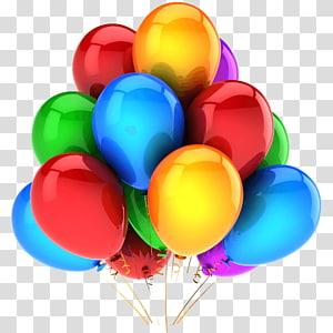 Expérience à deux ballons Fête pour enfants Anniversaire, ballons en ballon, ballon multicolore png