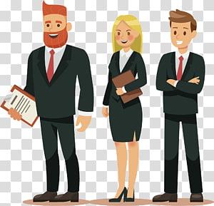 trois personnes portant costume illustration, costume personnage de dessin animé illustration, équipe de travail png