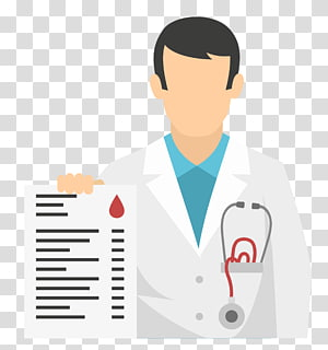 illustration de médecin, icône du médecin design plat, matériel de dossier médical médecin png