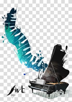 oeuvre de piano à queue noire, musique de fond Poster Concert Piano, instrument de piano, piano png