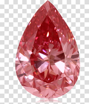 pierre gemme rouge taillée en forme de larme, diamants rouges diamant rose, rubis png