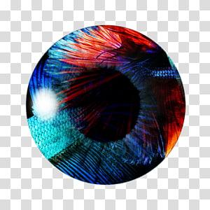 illustration ronde rouge et bleu, PicsArt Studio Color Eye Light, Eye png
