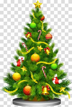 Arbre de Noël, arbre de Noël, illustration de l'arbre de Noël vert png