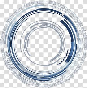 illustration grise et noire ronde, courbe de science-fiction bleue png