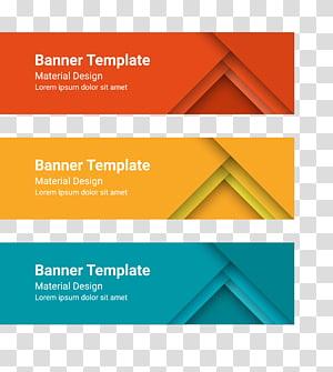 illustration de conception matériel bannière modèle, modèle de bannière Web, matériel de bannière png