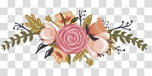 Invitation de mariage Convite, FLORES, swag de fleurs orange et roses png