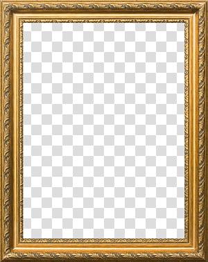 cadre, cadre européen élégant, cadre en bois marron rectangulaire png