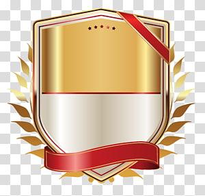 Papier pour étiquettes à ruban, étiquette dorée avec ruban doré, logo du jeu de classement png
