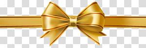 Ruban, arc doré, ruban jaune png
