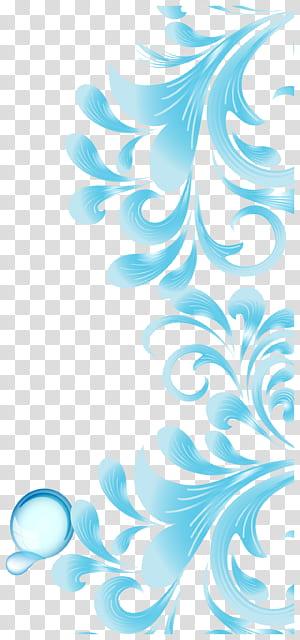 Brochure Flyer, motif abstrait bleu ciel, éclaboussure d'eau bleue png