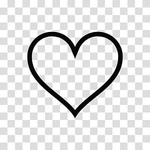 Lettre d'amour Feeling Desire Writing, contour de coeur, format de contour de coeur noir png