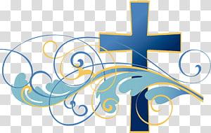 illustration de la croix bleue, Actes de la Bible des apôtres Église chrétienne Christianisme Dieu, ministère de la Communion png