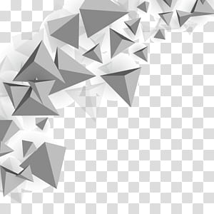 Triangle Polygon mesh, fond de triangle, illustration de pyramides grises png