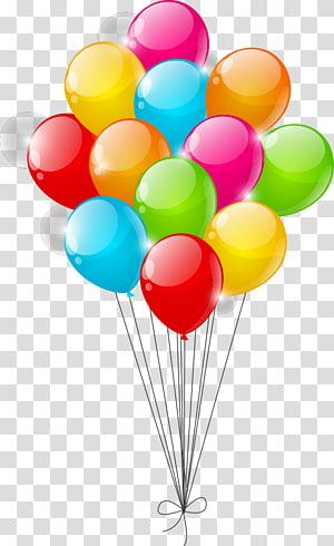 arrangement de ballon de couleurs assorties, ballon jouet, ballons colorés png