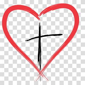 coeur et croix illustration, Felton Presbyterian Church croix chrétienne Coeur, croix chrétienne png