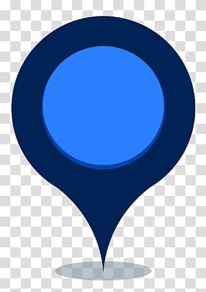 icône de point bleu et bleu marine, Google Maps Google Map Maker Pin, Blue Map Pin png