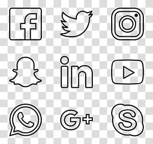 Icônes d'ordinateur PostScript encapsulé, icônes de médias sociaux png