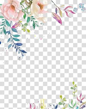 Invitation de mariage papier fleur peinture aquarelle encre, fleur d'encre aquarelle, fleur pétale rose png