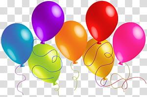Ballon, grands ballons colorés, illustration de ballons de couleurs assorties png