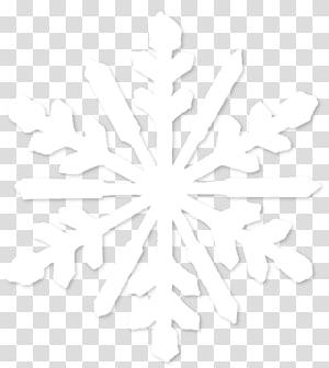 Ligne de symétrie motif noir et blanc, flocon de neige, illustration de flocon de neige blanche png