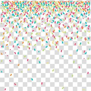 Confettis, fond coloré confettis, illustration de confettis rouge, jaune et vert png