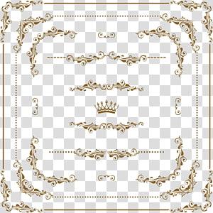 Cadre d'ornement, cadre doré png