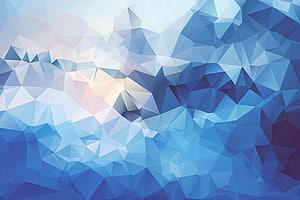Texture poly basse poly, abstrait bleu Blues grand art abstrait Lingge, bleu et blanc png