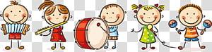 Dessin animé enfant jouer dessin, 61 enfants mignons de dessin animé jouant, enfants jouant illustration instrument png