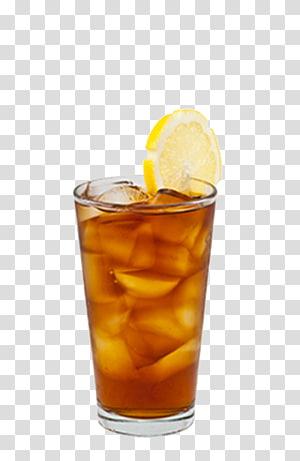 verre à boire clair avec illustration de lime en tranches, thé glacé café café au jus, thé glacé png