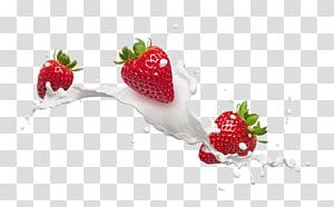 fraises au lait, lait aromatisé Frutti di bosco Cream Fraise, lait de fraise png