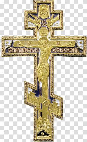 illustration de crucifix brun, croix chrétienne croix orthodoxe russe christianisme orthodoxe, croix chrétienne png
