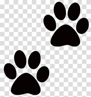 deux empreintes de pattes noires, chien assis pour chien chiot patte, inspiration s png