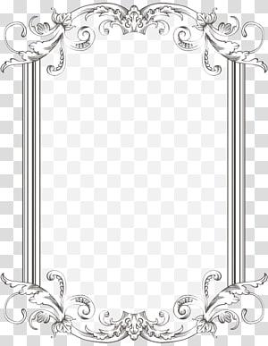 Cadres de bordures et cadres, Parcourir et Vintage Frame s, motif floral blanc rectangulaire png