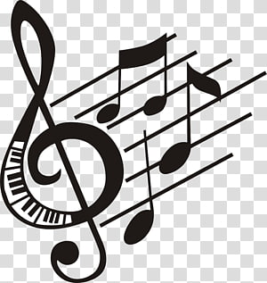 Clef Treble Note de musique Basse, Notes de musique, illustration de notes de musique png