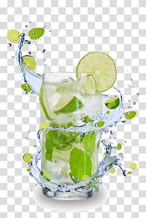 Caipirinha Mojito Cocktail Juice Sour, Jus de fruits et gobelets pour boissons HD, verre à boire clair au citron vert png