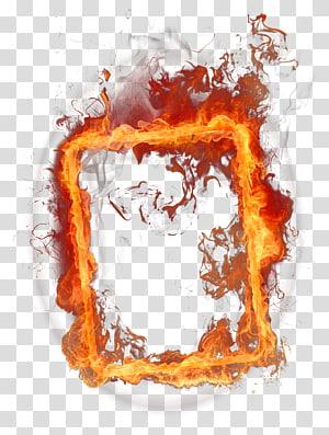 Fire, Fire Frame, boîte de flammes png