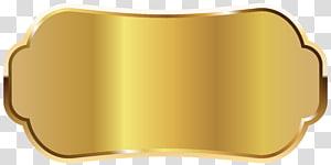 Matériau en métal Produit jaune, étiquette dorée, logo doré png