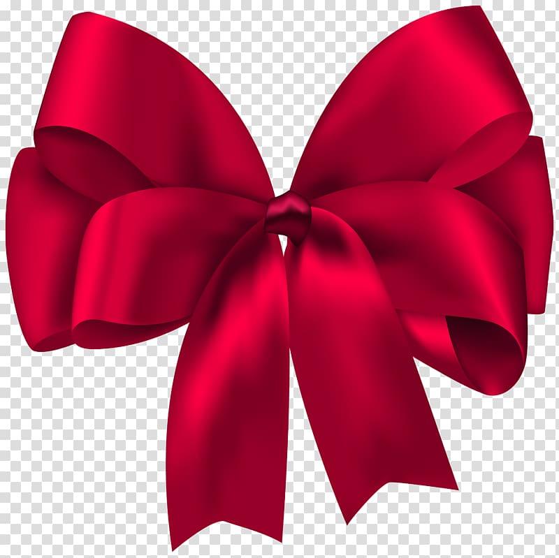 Ruban cadeau, ruban cadeau, illustration d'un arc rouge png