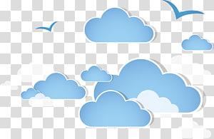 illustration de nuage bleu, nuage, nuages png