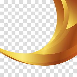 illustration numérique 3D jaune et marron, fond doré png