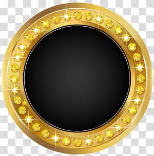Seal, Seal Gold Black, monture ronde en or png