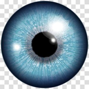 œil bleu, œil humain Lentille œil rouge, œil png