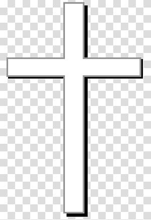 croix blanche illustration, croix chrétienne christianisme crucifixion de Jésus dessin animé, croix chrétienne png