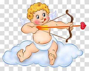 ange cupidon, Cupidon des jardins de Hunte Venus Cuteness Saint Valentin, Cupidon mignon png