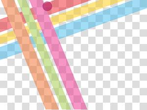 Abstraction de lignes géométriques Euclidienne, lignes géométriques abstraites colorées, rose, vert et marron png